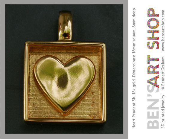 Have a Heart Pendant in 18k Gold Plated Brass