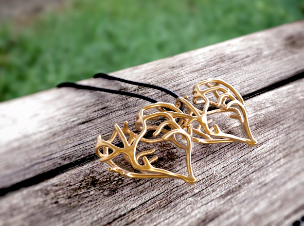 Complicated Passion² in Polished Bronze (Interlocking Parts)
