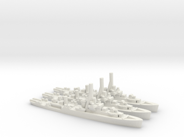 Australian River-Class Frigate in White Natural Versatile Plastic: 1:1800