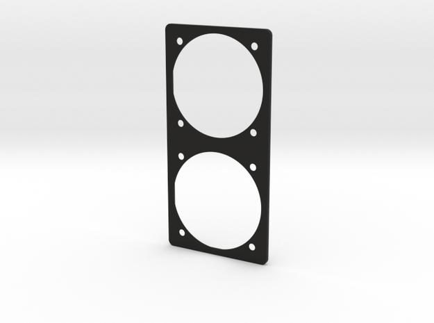 Aircraft Instrument panel Round two gauge Bezel in Black Premium Versatile Plastic