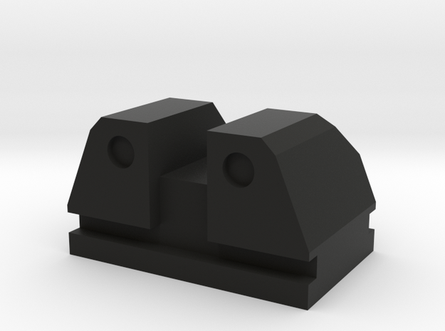 PPQ Tactical rear sight type 1 in Black Natural Versatile Plastic