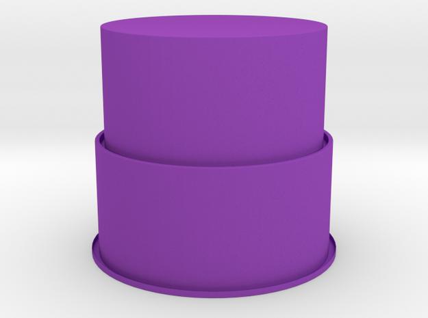 PneumaticTowerXen01mm106TwoLevels in Purple Processed Versatile Plastic