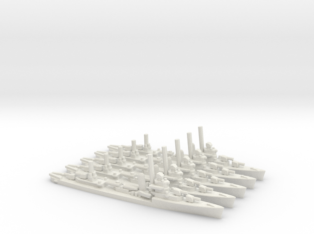 US Sims-class Destroyer (x5) in White Natural Versatile Plastic