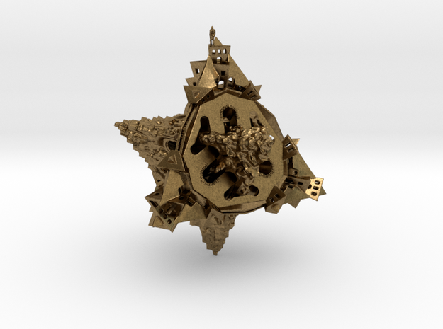 Double Planetoid Closed Alone Pendant 3d printed