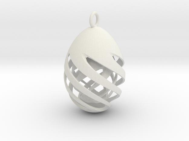 Easteregg 3 in White Natural Versatile Plastic