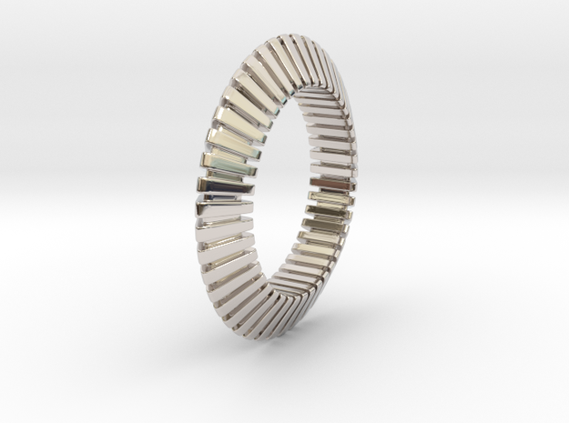 Patrick Triangle - Ring  in Rhodium Plated Brass: 6 / 51.5