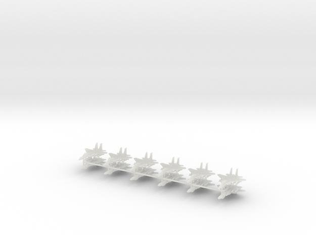 1/600 F-15E Strike Eagle (Strike Loadout) (x12) in Smooth Fine Detail Plastic