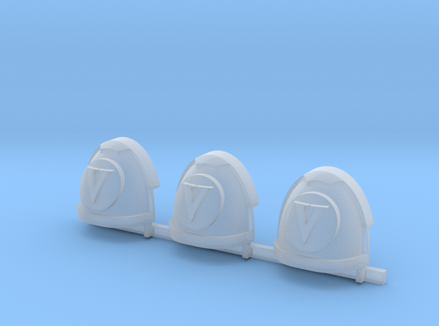 Latin V Gravus shoulder pads R x3 #1 in Smooth Fine Detail Plastic