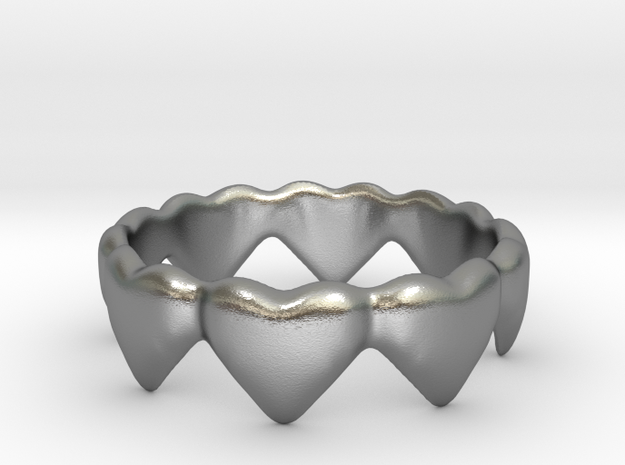 Hearts that Interlock in Natural Silver