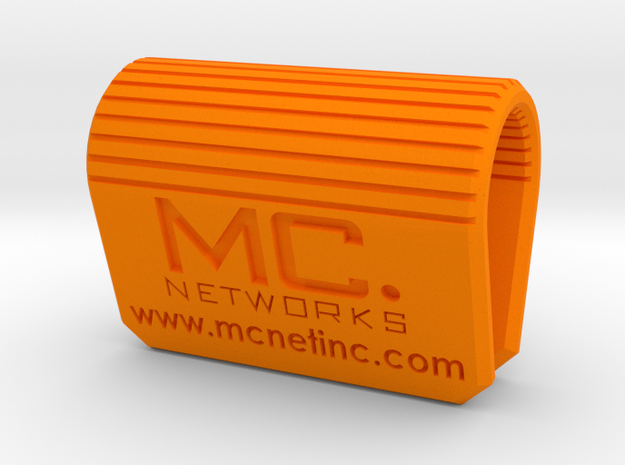 MC-Networks Logo Corporate Webcam Security Cover in Orange Processed Versatile Plastic