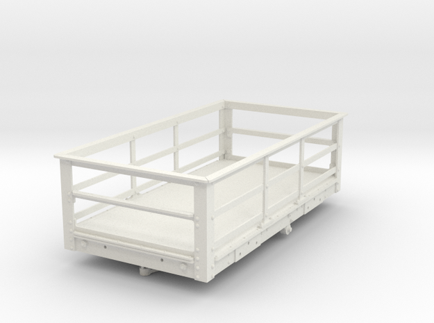 FRB14 FR  Ton Slate Wagon, Braked SM32 in White Natural Versatile Plastic