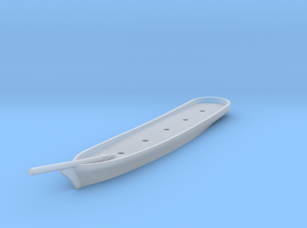 Five-Masted Schooner Hull in Smooth Fine Detail Plastic: 1:1800