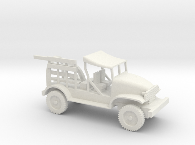1/87 Scale Chevy M6 Bomb Servicing Truck 2 in White Natural Versatile Plastic