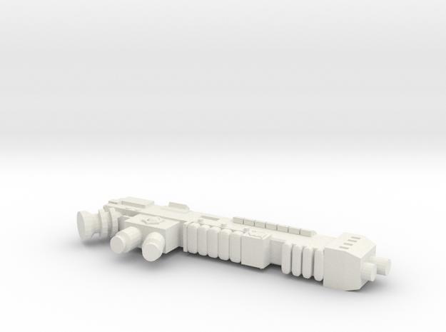 Plasmagun Inspirator Pattern in White Natural Versatile Plastic