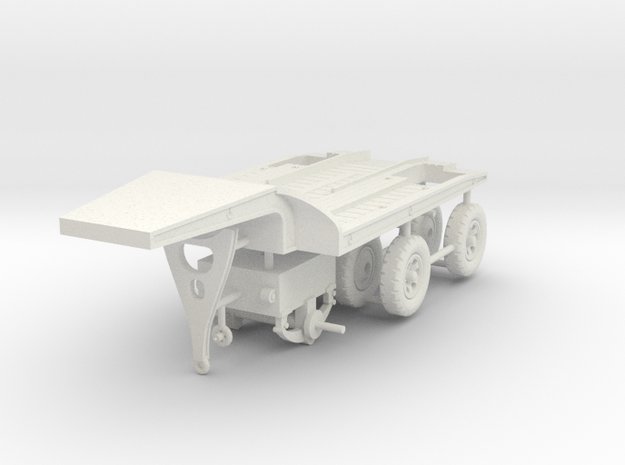1/72 Fruehauf 8 tons trailer CPT-8 in White Natural Versatile Plastic