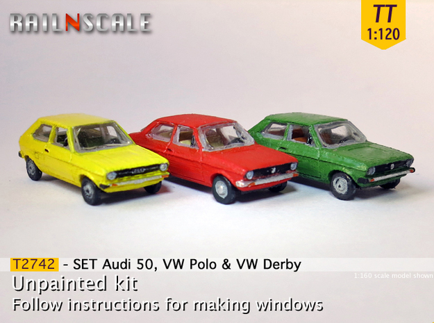 SET Audi 50, VW Polo & VW Derby (TT 1:120)