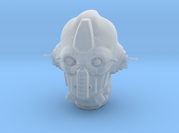 Mercenary Pilot helmet in 1/6 scale in Smoothest Fine Detail Plastic