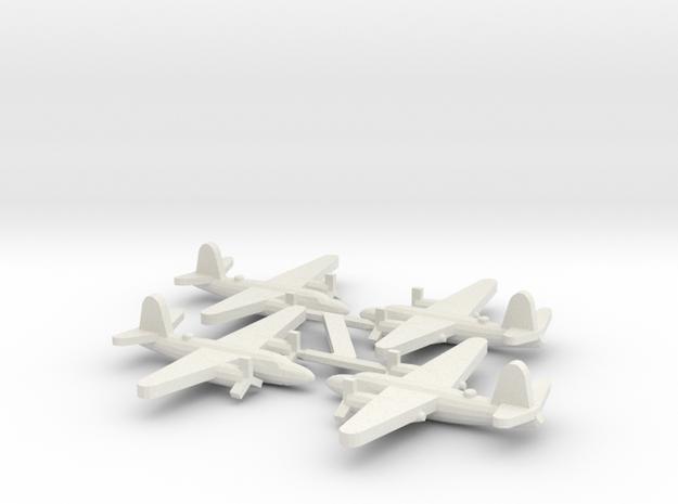US B-26 Marauder Bomber (x4) in White Natural Versatile Plastic