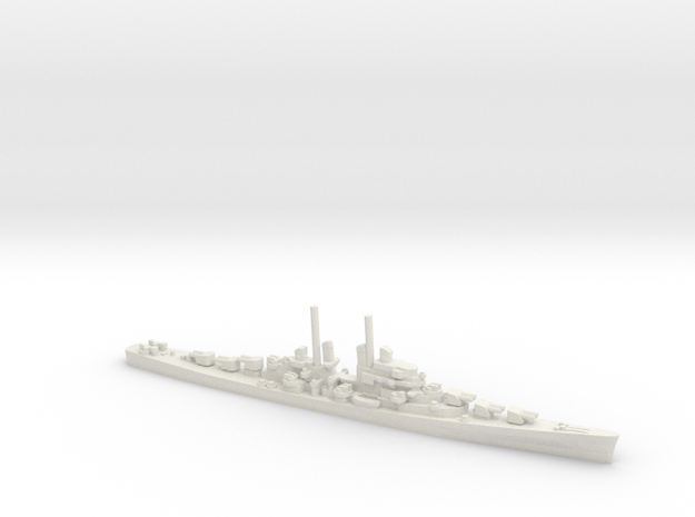US Juneau-Class Cruiser in White Natural Versatile Plastic