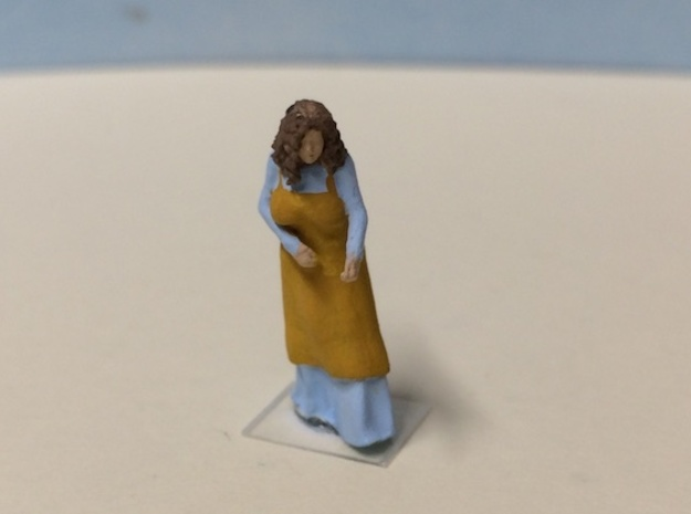 Peasant Female in Smoothest Fine Detail Plastic: 1:64 - S