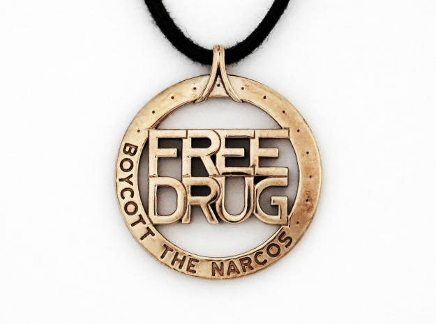 Free Drug in Polished Bronze