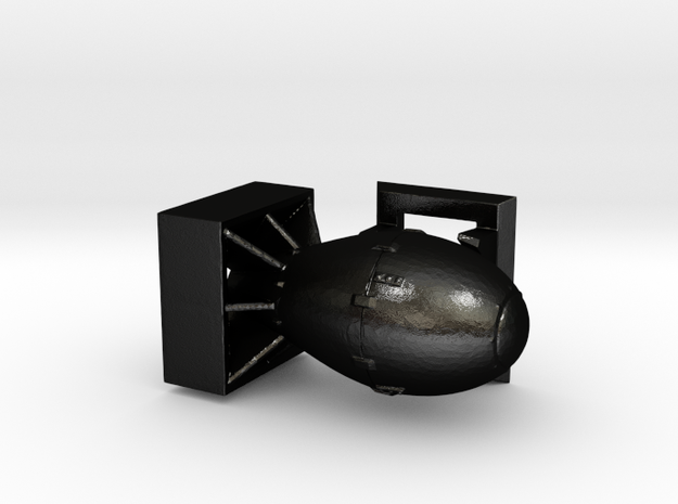 Fat Man - No Antennae in Matte Black Steel