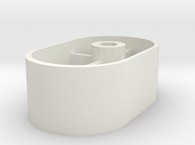 Muji Hand Shredder Handle in White Natural Versatile Plastic