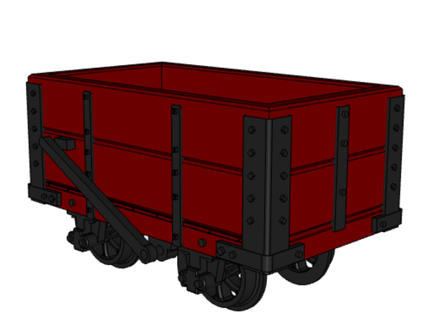 NWNGR 2 Plank Open Wagon 4mm in Smooth Fine Detail Plastic