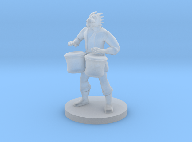 Male Dragonborn Bard with Bongos in Smooth Fine Detail Plastic