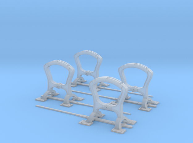 Harp switch stand - Arc top - Four Pack in Smoothest Fine Detail Plastic