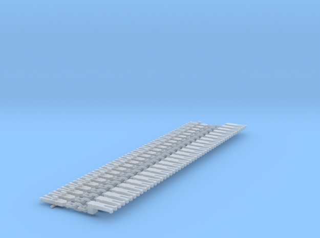NEM OO Type 4 Couplings - Adaptor 3 Link x25 in Smooth Fine Detail Plastic