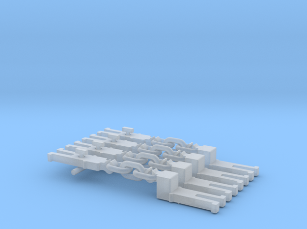 NEM OO Type 12 Couplings - Adaptor 3 Link x4 in Smooth Fine Detail Plastic
