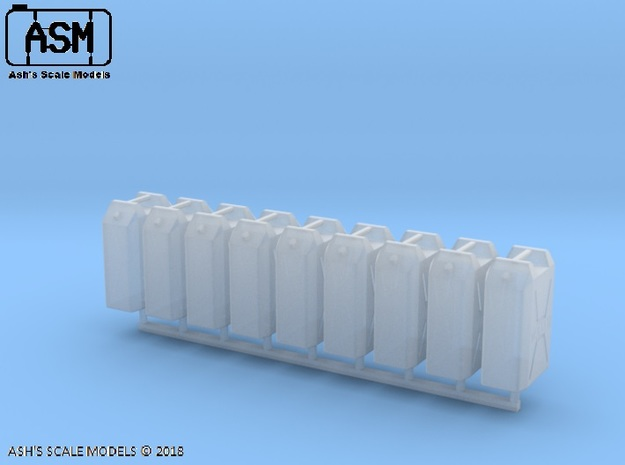 1/35 MILITARY 22lt PLASTIC WATER JERRY CAN 8 PACK in Smooth Fine Detail Plastic