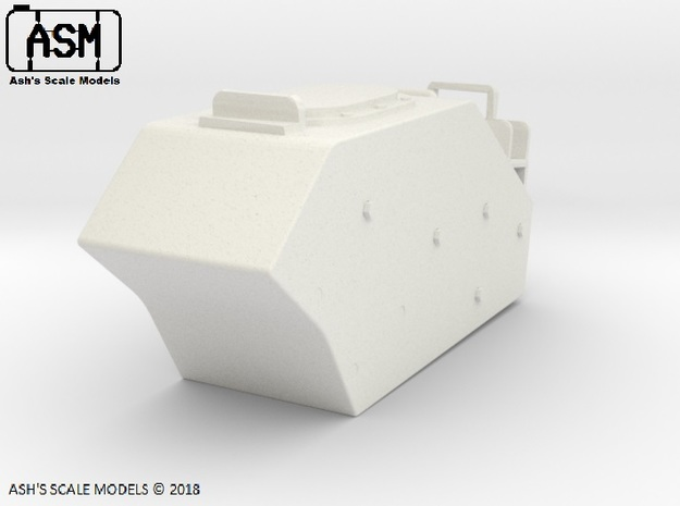 1/16 M113AS4 RIGHT EXTERNAL FUEL TANK in White Natural Versatile Plastic