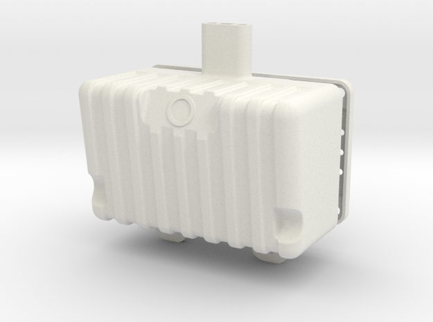 RTF202-01 TF2 Electronics Tub Fuel Tank in White Natural Versatile Plastic