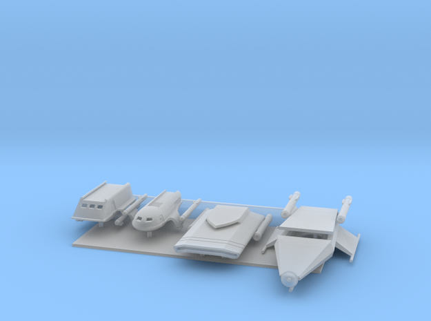1/350 TOS and TAS Shuttlecraft Variety Pack in Smooth Fine Detail Plastic