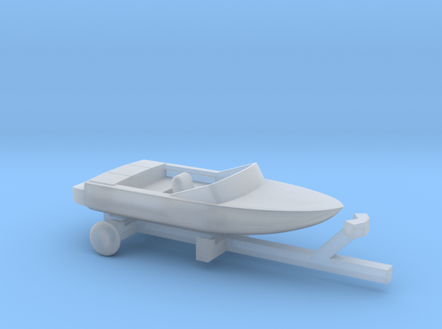Pleasure Boat - 1:120scale in Smooth Fine Detail Plastic