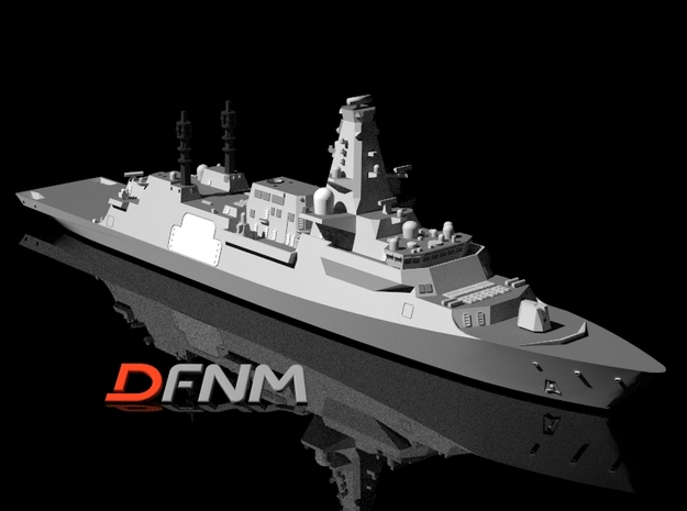 Type 26 (City Class) Frigate in White Natural Versatile Plastic: 1:700