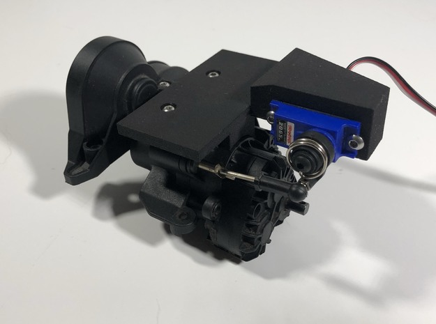 One Ten Prints TRX4 2 Speed Shift Servo Mount in Black Natural Versatile Plastic