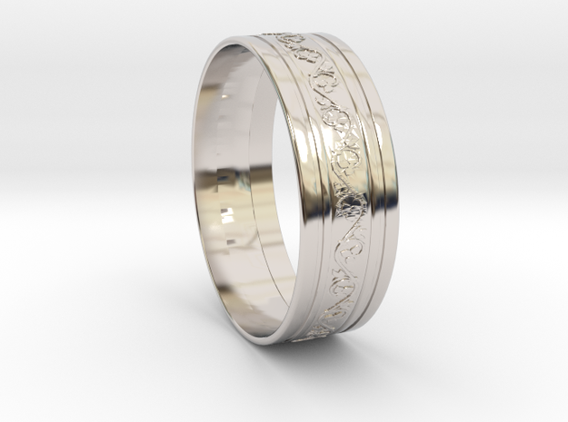 Wedding Gold Ring KTWR03 by KTkaRAJ in Rhodium Plated Brass