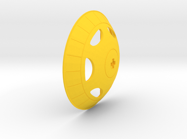 Gyrotron Wheel in Yellow Processed Versatile Plastic