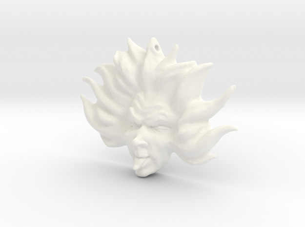 Sez You Pendant in White Processed Versatile Plastic