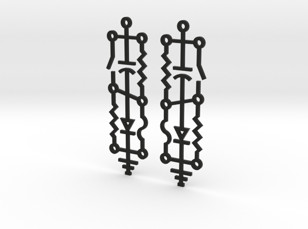 Electrical Circuit Earrings