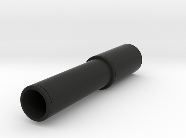 MAC-11 Mock Silencer for Nerf Modulus in Black Natural Versatile Plastic