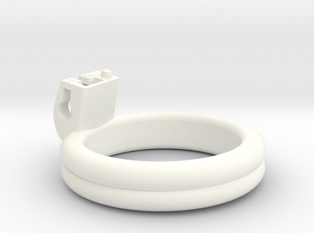 Cherry Keeper Ring - 51mm Double Flat -1° in White Processed Versatile Plastic