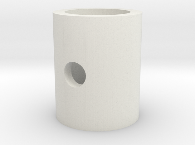 Cable lever rod roller in White Natural Versatile Plastic