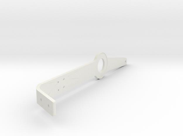 Throttle Lever Bent in White Natural Versatile Plastic