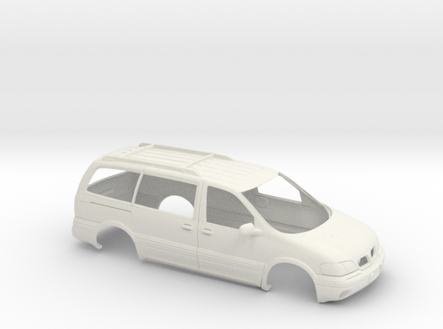 1/24 1996-04 Pontiac Montana Shell in White Natural Versatile Plastic