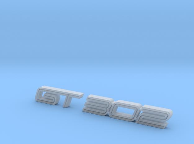 GT 302 emblem  in Smoothest Fine Detail Plastic