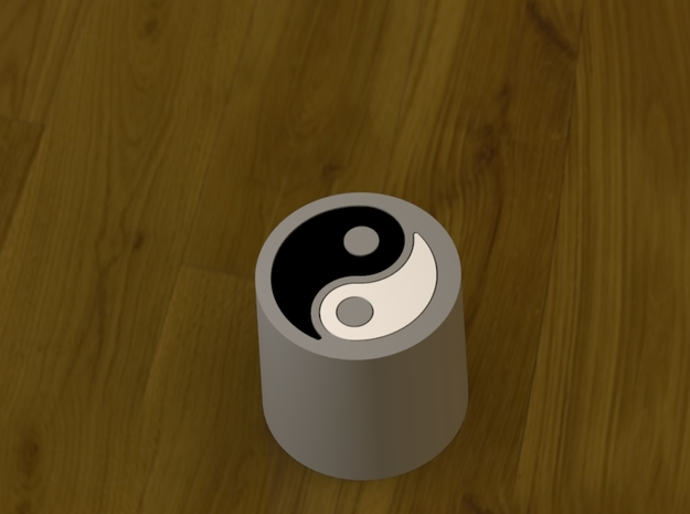 Yin vs Yang - Executive Fidget Desk Toy. in White Processed Versatile Plastic